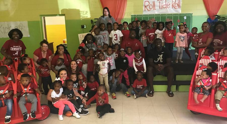 Alabama Athletics Kicks off Alberta Head Start Unity Project