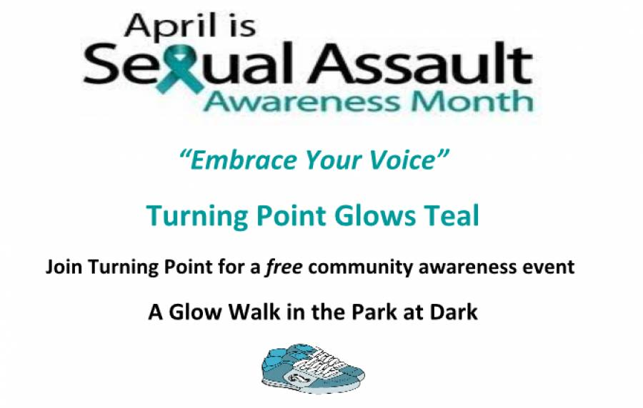 Turning Point to Hold Sexual Assault Awareness Glow Walk on April 5